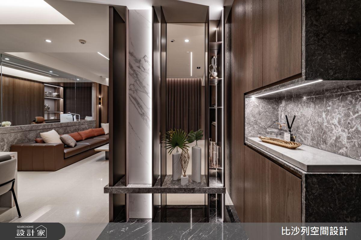 68坪新成屋(5年以下)_現代風玄關案例圖片_比沙列空間設計_比沙列_23之2