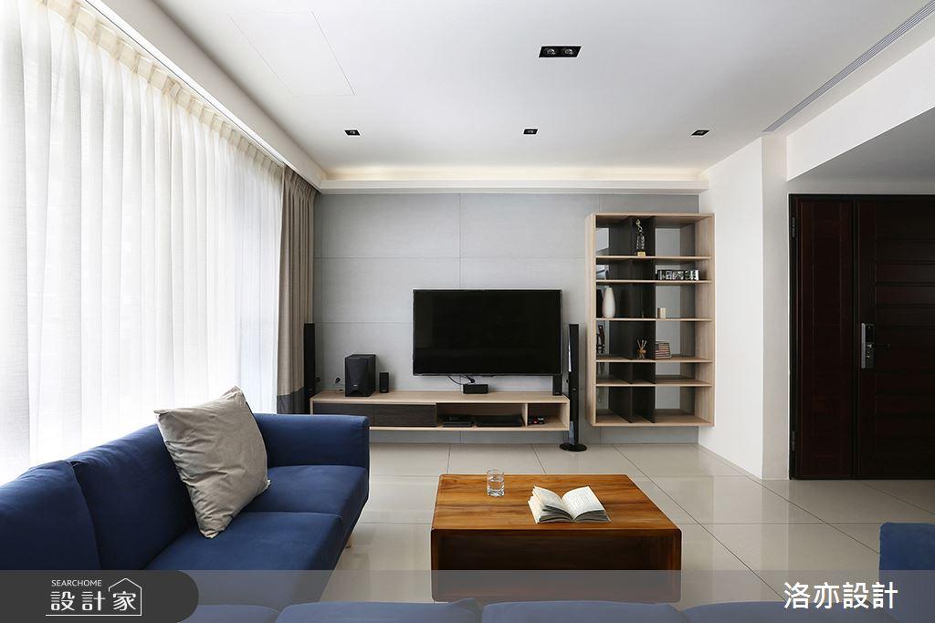 28坪新成屋(5年以下)_混搭風客廳案例圖片_洛亦設計 luò yì Interior Design_洛亦_02之4
