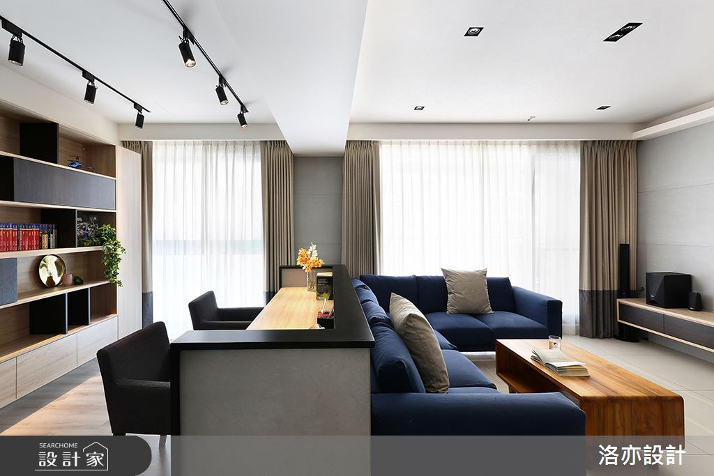 28坪新成屋(5年以下)_混搭風客廳書房案例圖片_洛亦設計 luò yì Interior Design_洛亦_02之5