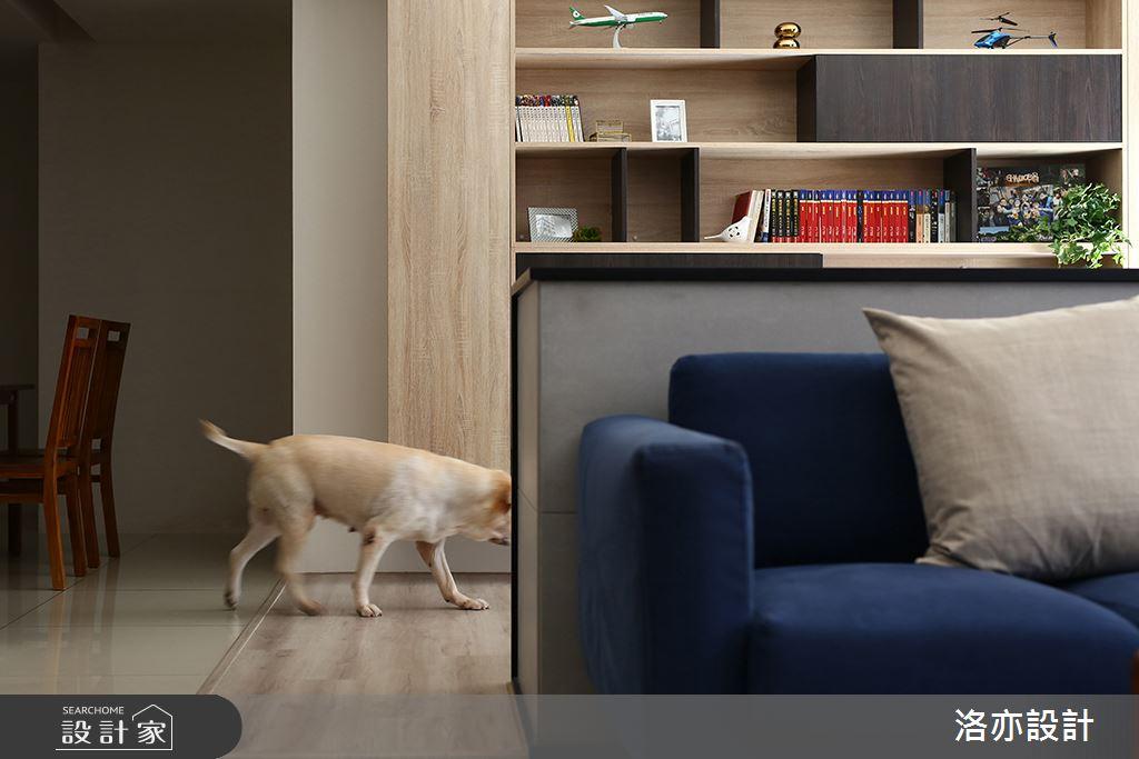 28坪新成屋(5年以下)_混搭風客廳案例圖片_洛亦設計 luò yì Interior Design_洛亦_02之8