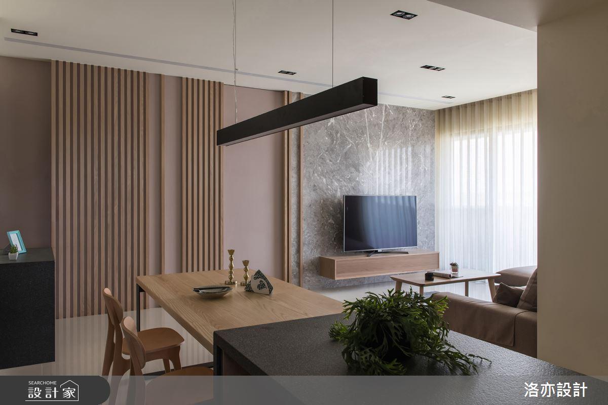 35坪新成屋(5年以下)_北歐風餐廳案例圖片_洛亦設計 luò yì Interior Design_洛亦_03之4