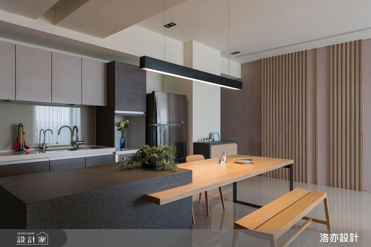 35坪新成屋(5年以下)_北歐風餐廳案例圖片_洛亦設計 luò yì Interior Design_洛亦_03之7