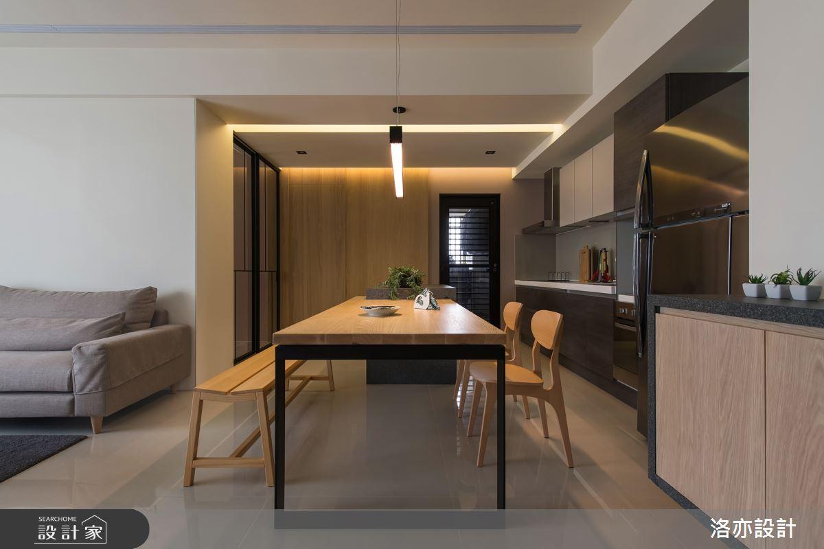 35坪新成屋(5年以下)_北歐風餐廳案例圖片_洛亦設計 luò yì Interior Design_洛亦_03之6