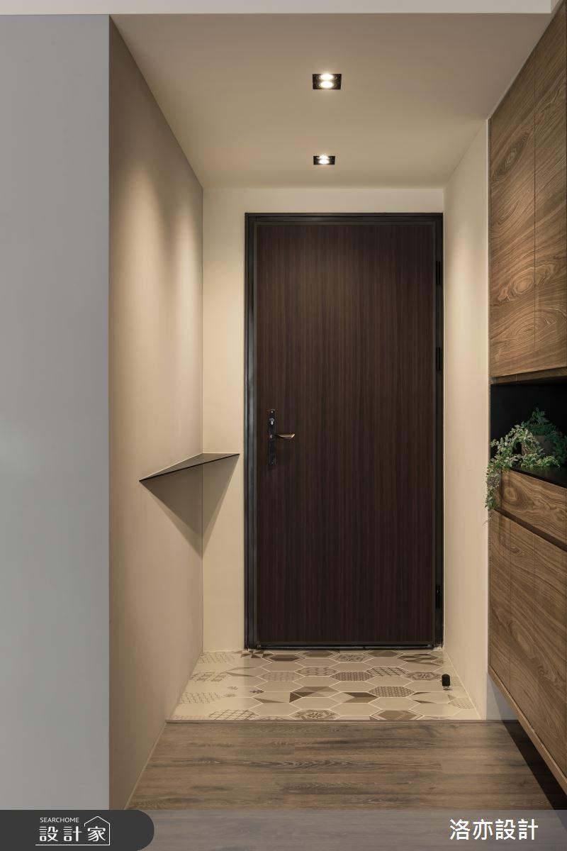 25坪新成屋(5年以下)_混搭風玄關案例圖片_洛亦設計 luò yì Interior Design_洛亦_04之1