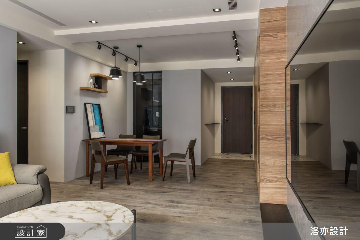 25坪新成屋(5年以下)_混搭風餐廳案例圖片_洛亦設計 luò yì Interior Design_洛亦_04之4