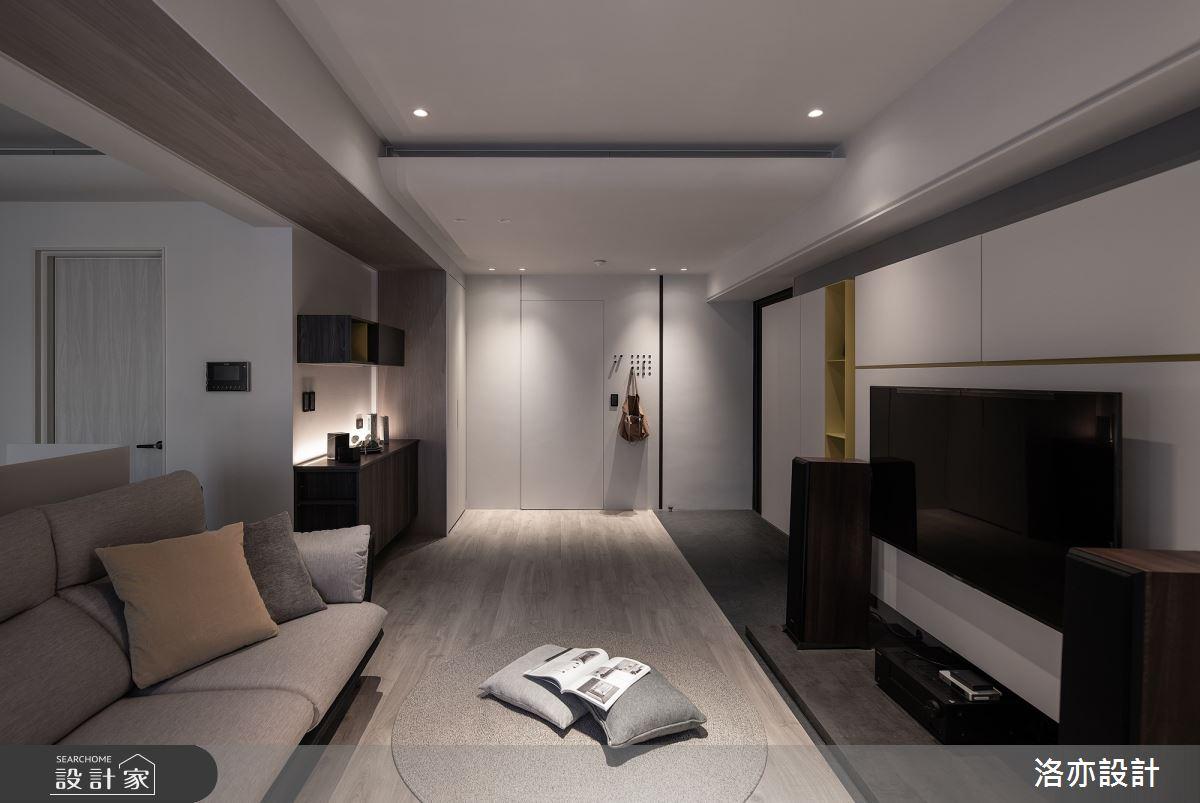 23坪新成屋(5年以下)_簡約風客廳案例圖片_洛亦設計 luò yì Interior Design_洛亦_05之8