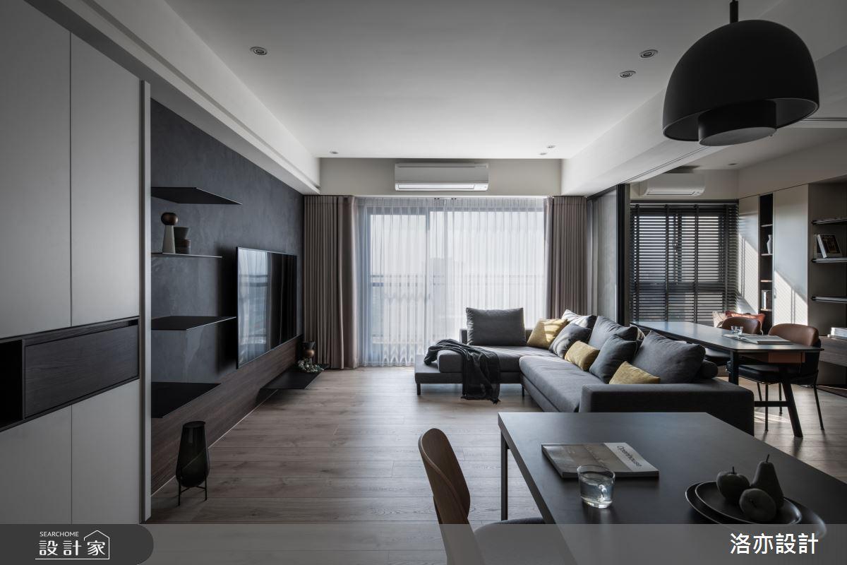 35坪新成屋(5年以下)_混搭風客廳案例圖片_洛亦設計 luò yì Interior Design_洛亦_06之1