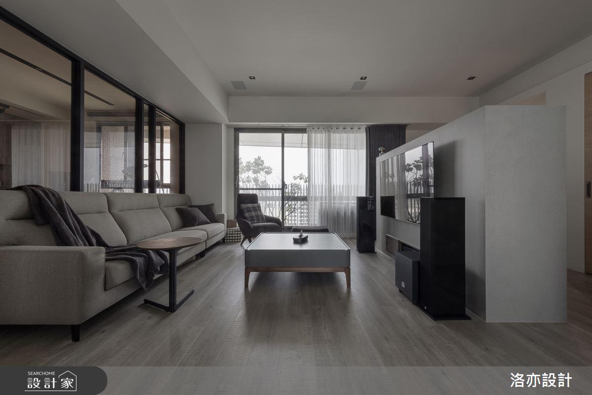 50坪新成屋(5年以下)_北歐風客廳案例圖片_洛亦設計 luò yì Interior Design_洛亦_07之5