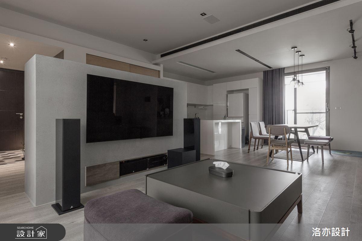 50坪新成屋(5年以下)_北歐風客廳案例圖片_洛亦設計 luò yì Interior Design_洛亦_07之6