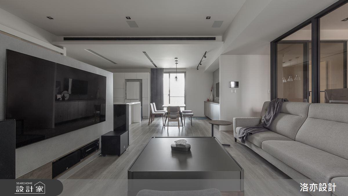 50坪新成屋(5年以下)_北歐風客廳案例圖片_洛亦設計 luò yì Interior Design_洛亦_07之7