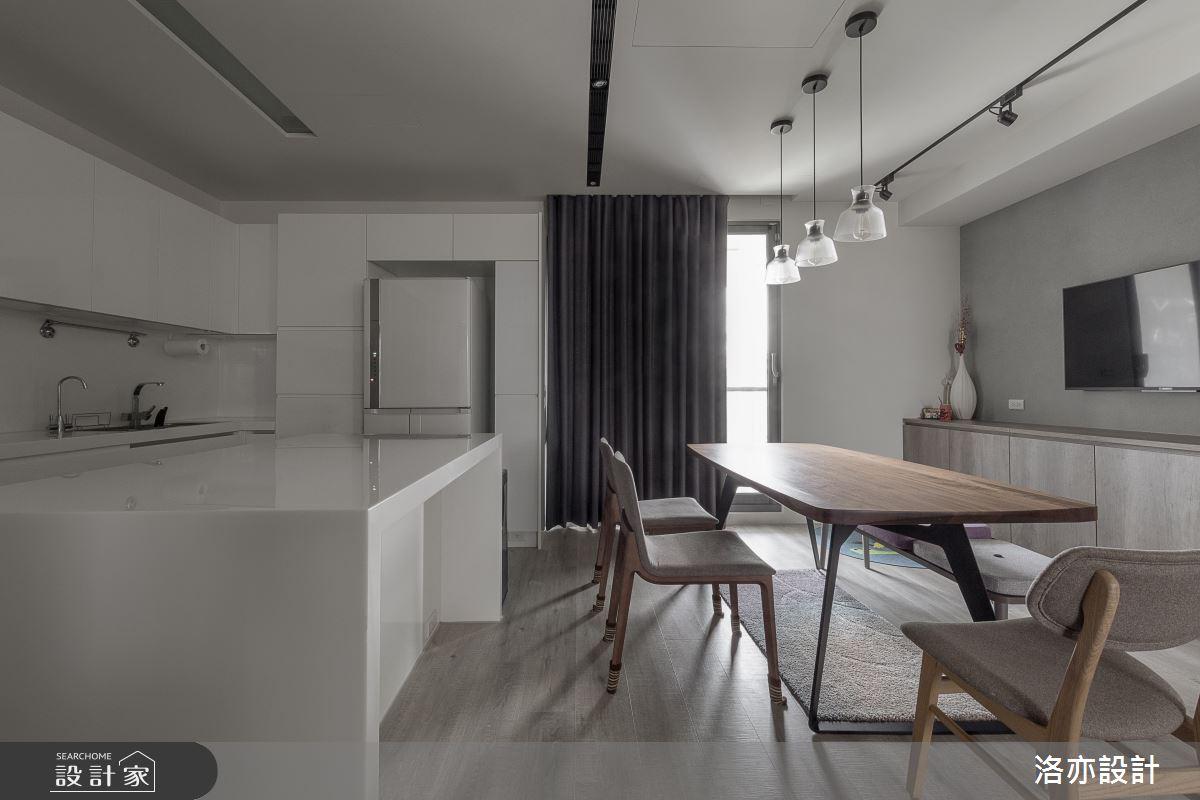 50坪新成屋(5年以下)_北歐風餐廳案例圖片_洛亦設計 luò yì Interior Design_洛亦_07之12
