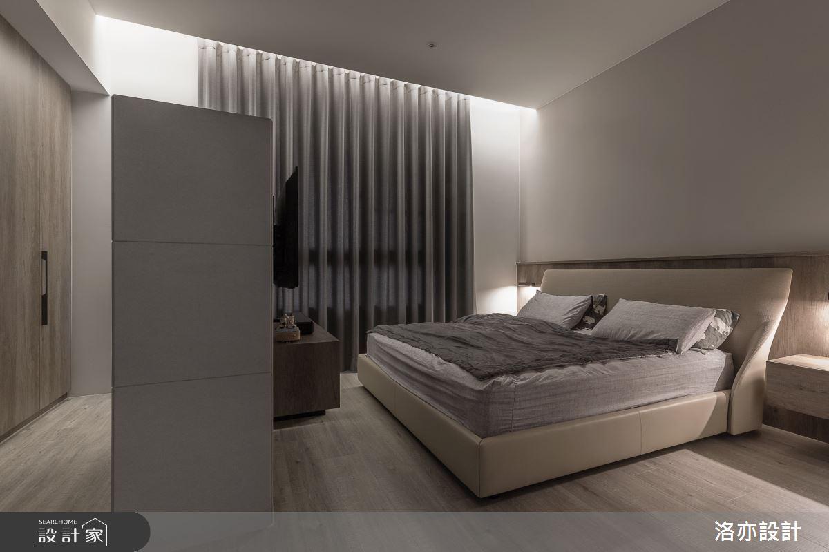 50坪新成屋(5年以下)_北歐風臥室案例圖片_洛亦設計 luò yì Interior Design_洛亦_07之13