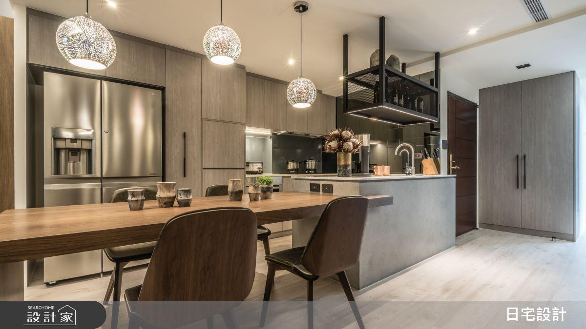 33坪新成屋(5年以下)_現代風餐廳中島案例圖片_日宅設計_日宅_02之1