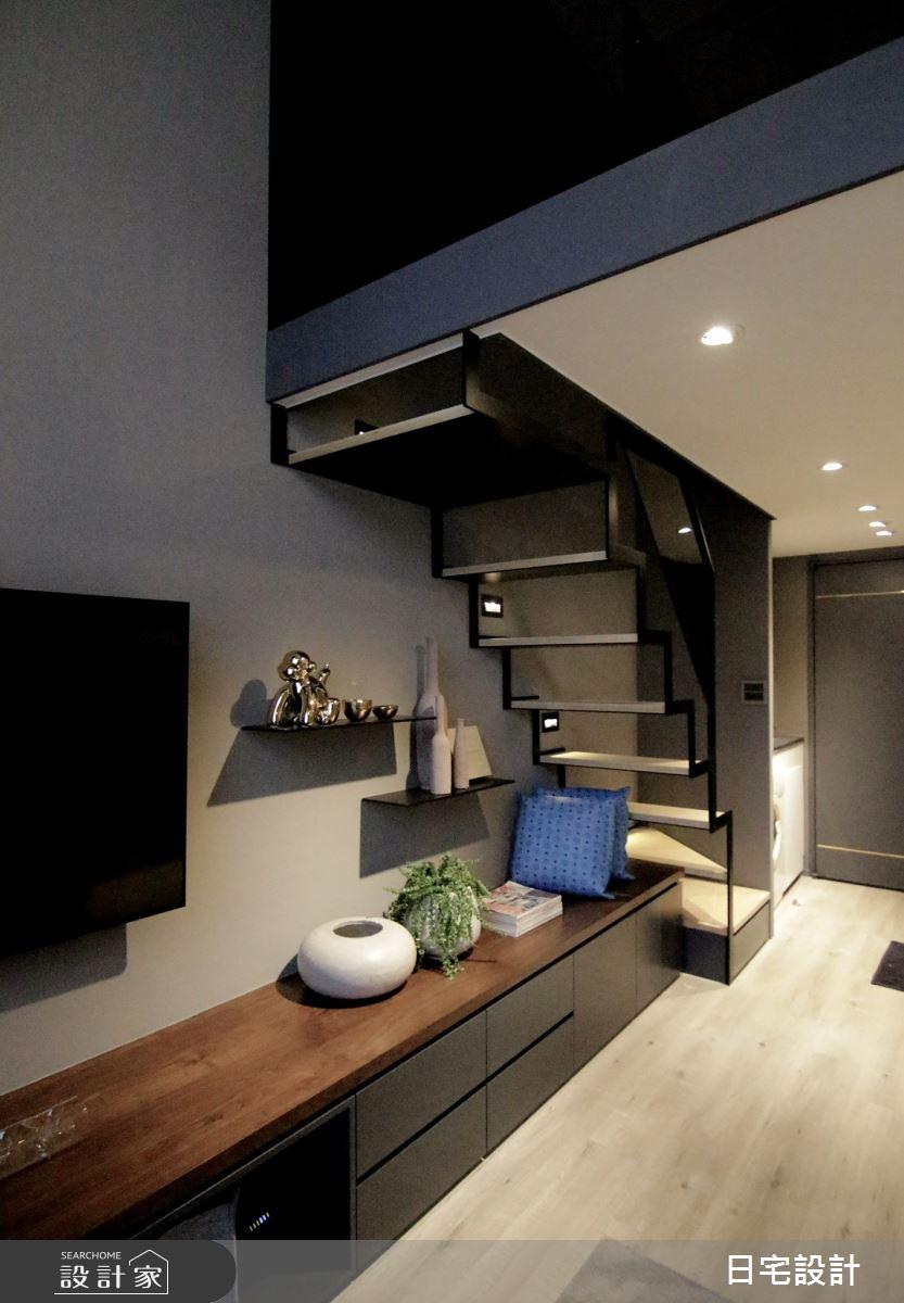 6坪中古屋(5~15年)_現代風客廳樓梯案例圖片_日宅設計_日宅_04之4