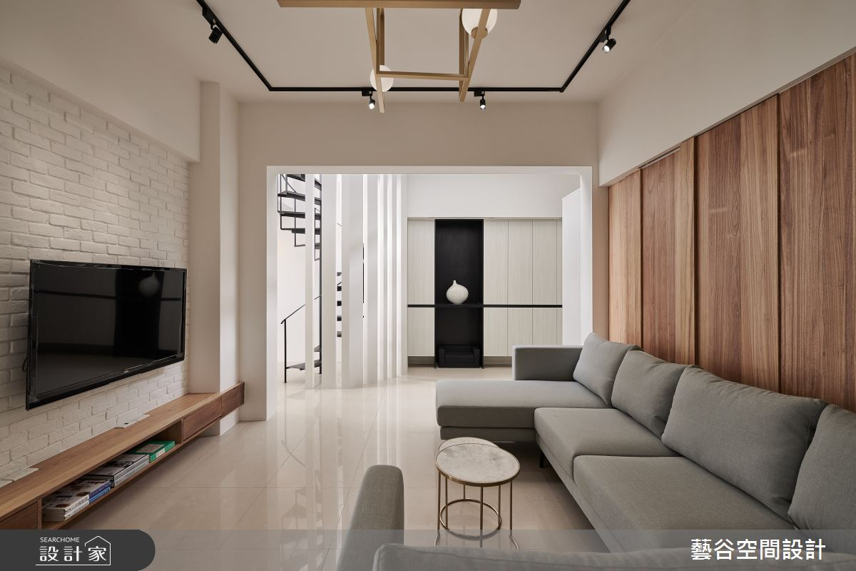 100坪老屋(16~30年)_現代風客廳案例圖片_藝谷空間設計_藝谷_02之3