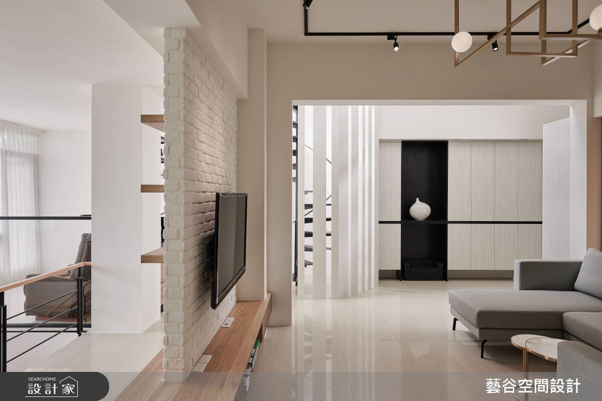 100坪老屋(16~30年)_現代風客廳案例圖片_藝谷空間設計_藝谷_02之4