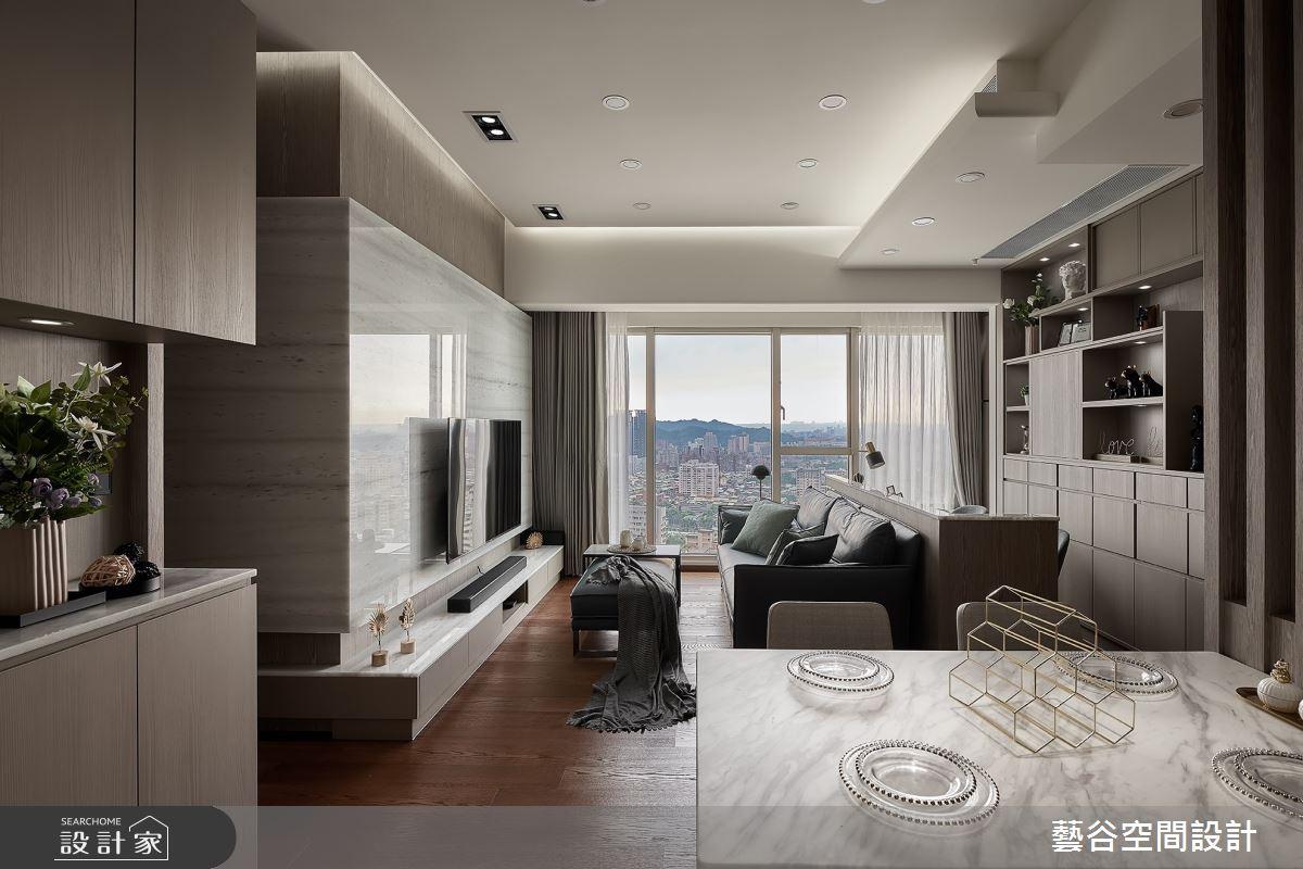 20坪新成屋(5年以下)_現代風客廳餐廳案例圖片_藝谷空間設計_藝谷_06之2