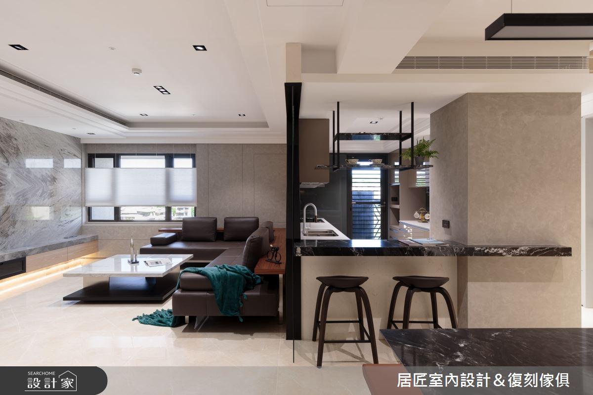 77坪新成屋(5年以下)_現代風客廳案例圖片_居匠室內設計&復刻傢俱_居匠_02之3
