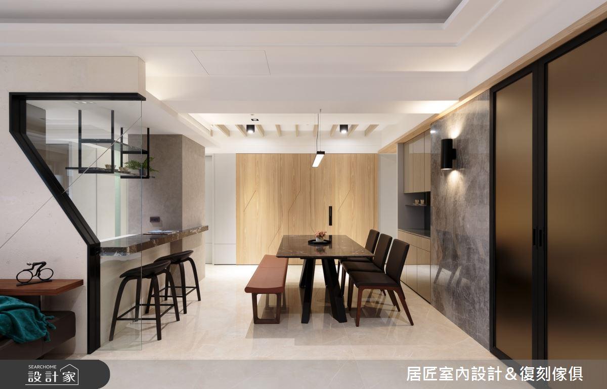 77坪新成屋(5年以下)_現代風餐廳案例圖片_居匠室內設計&復刻傢俱_居匠_02之4