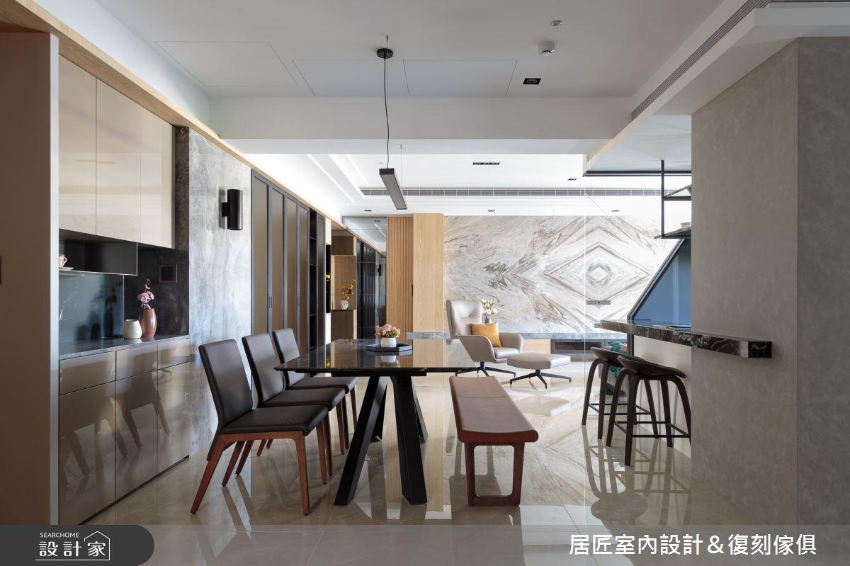 77坪新成屋(5年以下)_現代風餐廳案例圖片_居匠室內設計&復刻傢俱_居匠_02之5