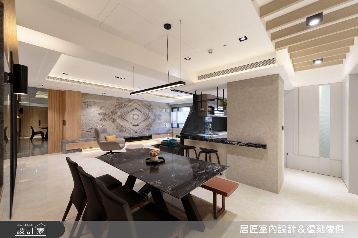 77坪新成屋(5年以下)_現代風餐廳案例圖片_居匠室內設計&復刻傢俱_居匠_02之6