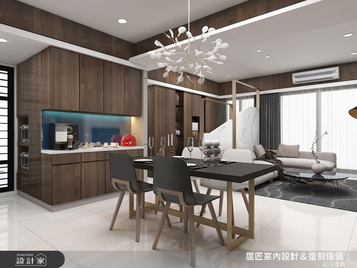 30坪新成屋(5年以下)_現代風餐廳案例圖片_居匠室內設計&復刻傢俱_居匠_03之2