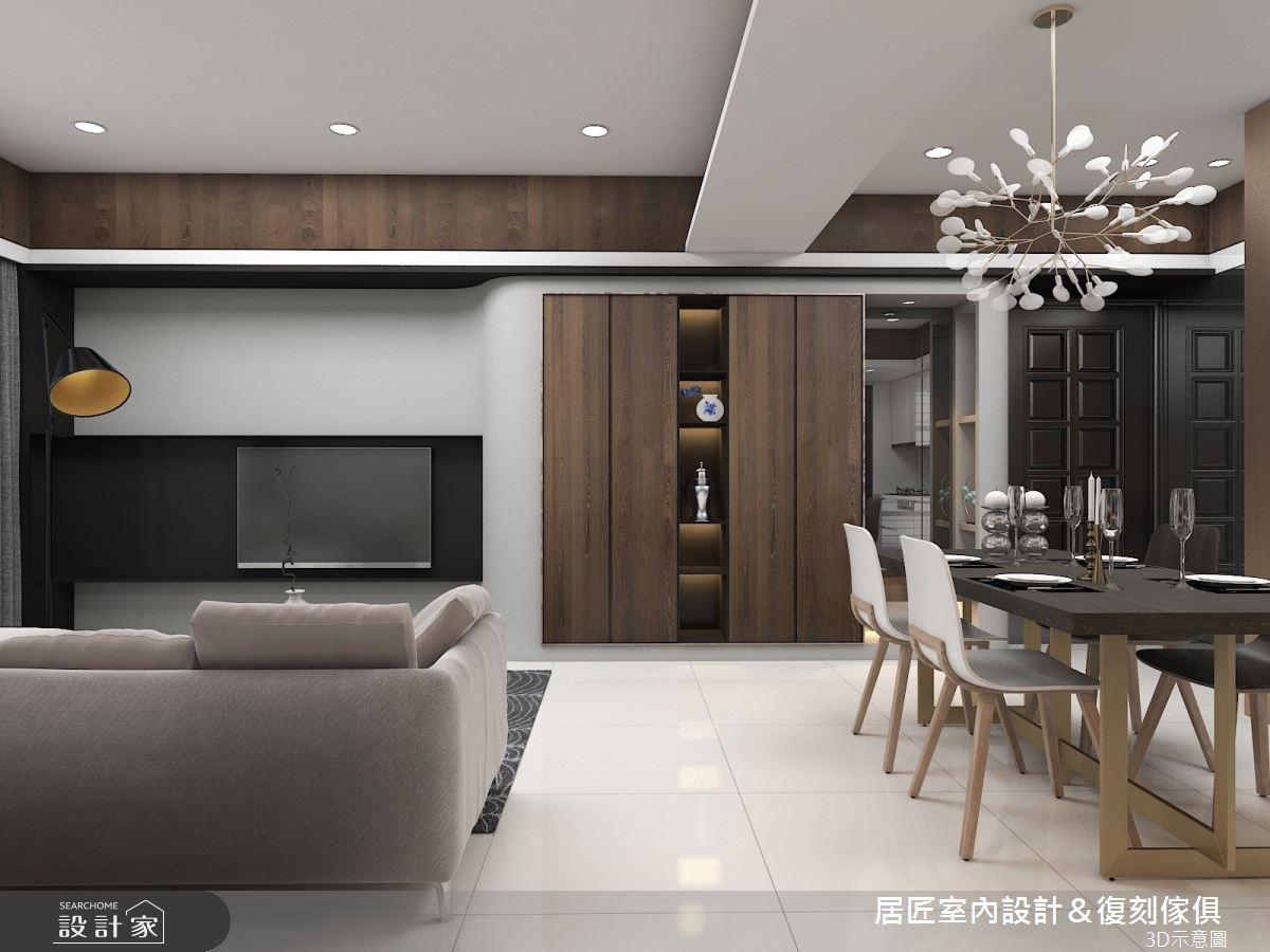 30坪新成屋(5年以下)_現代風客廳餐廳案例圖片_居匠室內設計&復刻傢俱_居匠_03之4