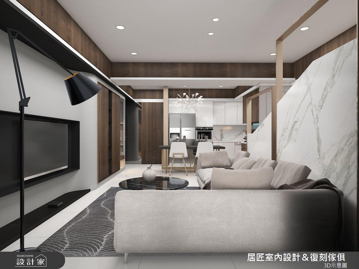30坪新成屋(5年以下)_現代風客廳案例圖片_居匠室內設計&復刻傢俱_居匠_03之5