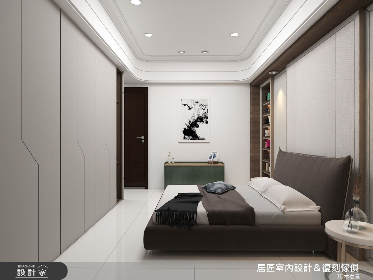 30坪新成屋(5年以下)_現代風臥室案例圖片_居匠室內設計&復刻傢俱_居匠_03之8