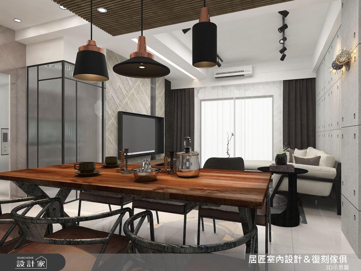 30坪新成屋(5年以下)_工業風餐廳案例圖片_居匠室內設計&復刻傢俱_居匠_04之4