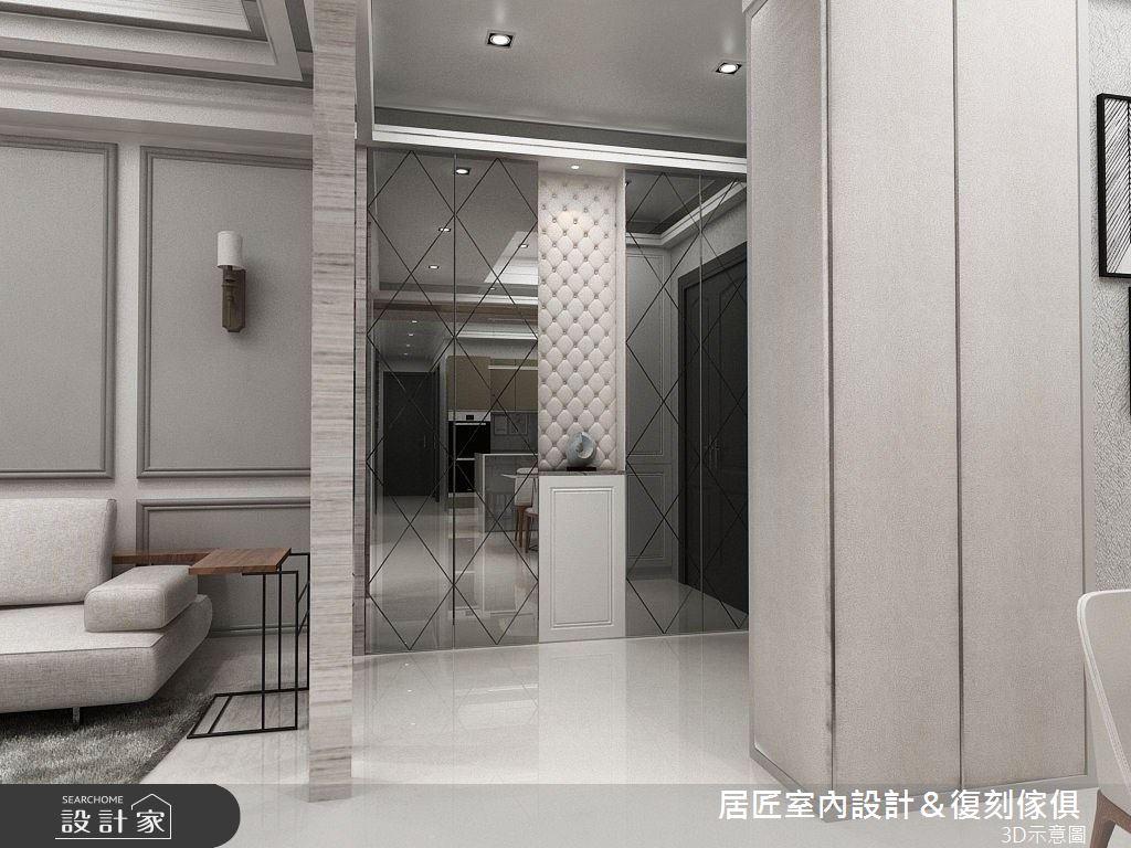 40坪新成屋(5年以下)_新古典玄關案例圖片_居匠室內設計&復刻傢俱_居匠_06之1