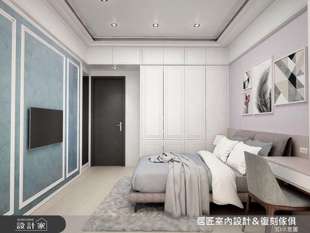 40坪新成屋(5年以下)_新古典臥室案例圖片_居匠室內設計&復刻傢俱_居匠_06之10