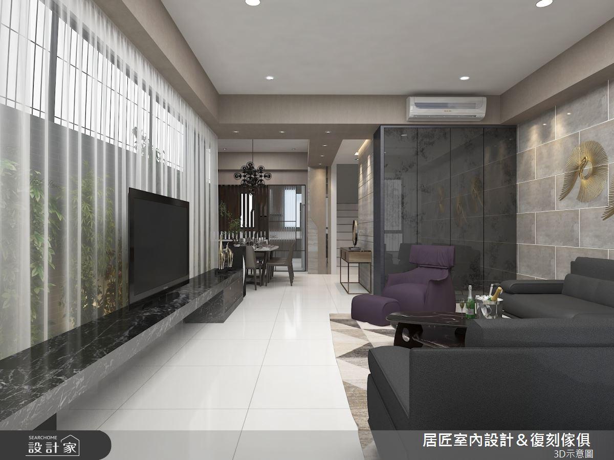 50坪新成屋(5年以下)_現代風客廳案例圖片_居匠室內設計&復刻傢俱_居匠_07之3