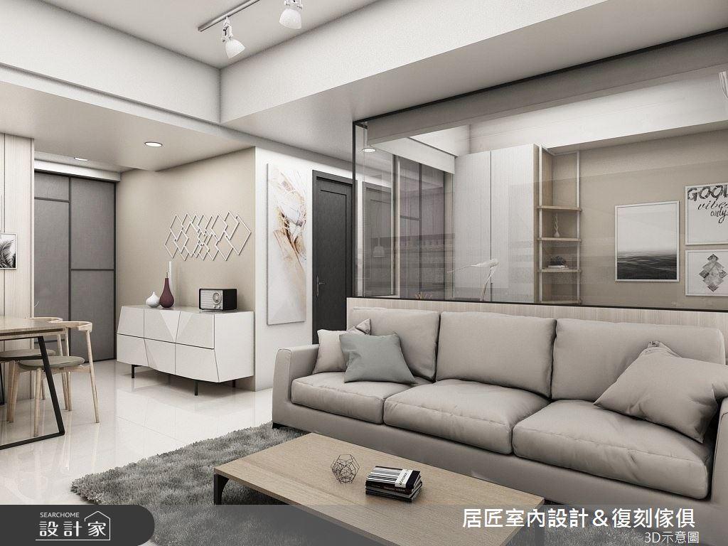 20坪新成屋(5年以下)_北歐風客廳案例圖片_居匠室內設計&復刻傢俱_居匠_10之3