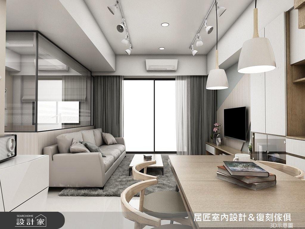 20坪新成屋(5年以下)_北歐風客廳案例圖片_居匠室內設計&復刻傢俱_居匠_10之2