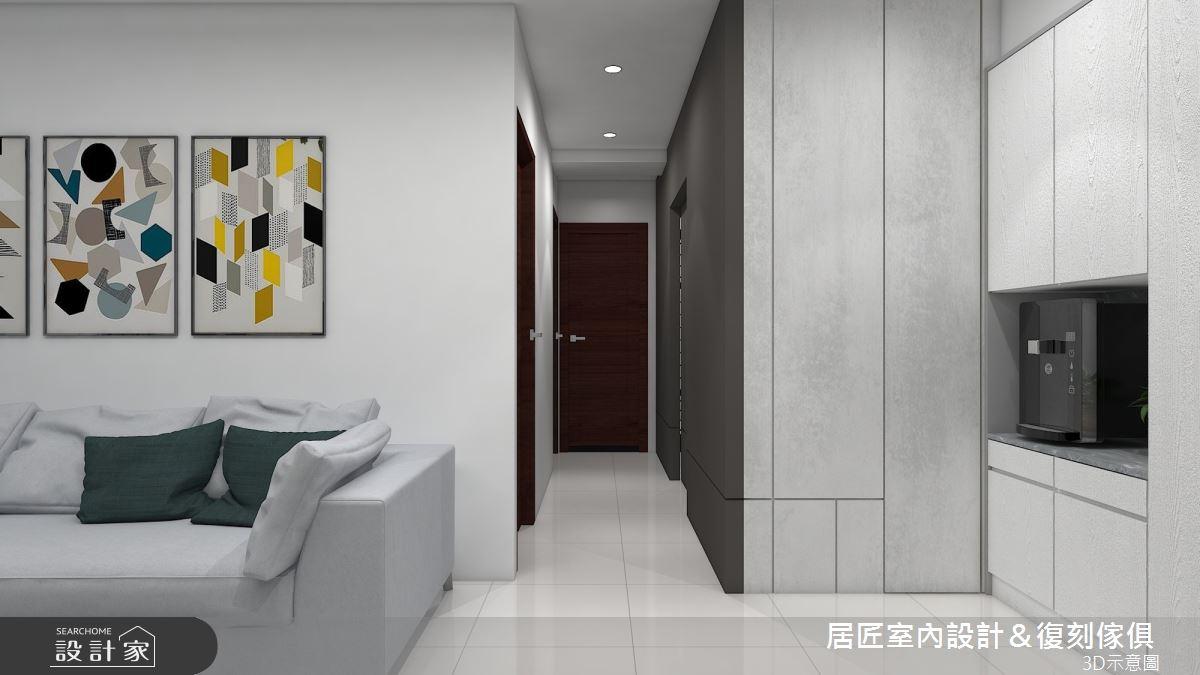 14坪新成屋(5年以下)_現代風客廳案例圖片_居匠室內設計&復刻傢俱_居匠_18之4