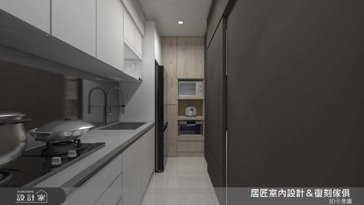 14坪新成屋(5年以下)_現代風廚房案例圖片_居匠室內設計&復刻傢俱_居匠_18之5