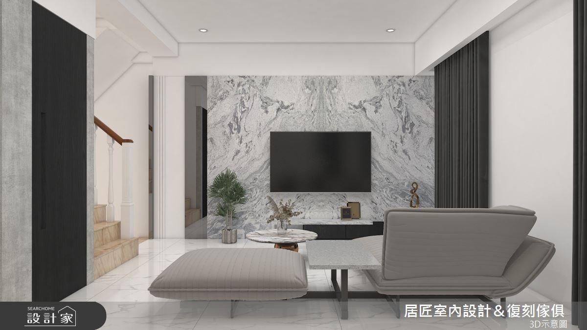 30坪新成屋(5年以下)_現代風客廳案例圖片_居匠室內設計&復刻傢俱_居匠_23之3
