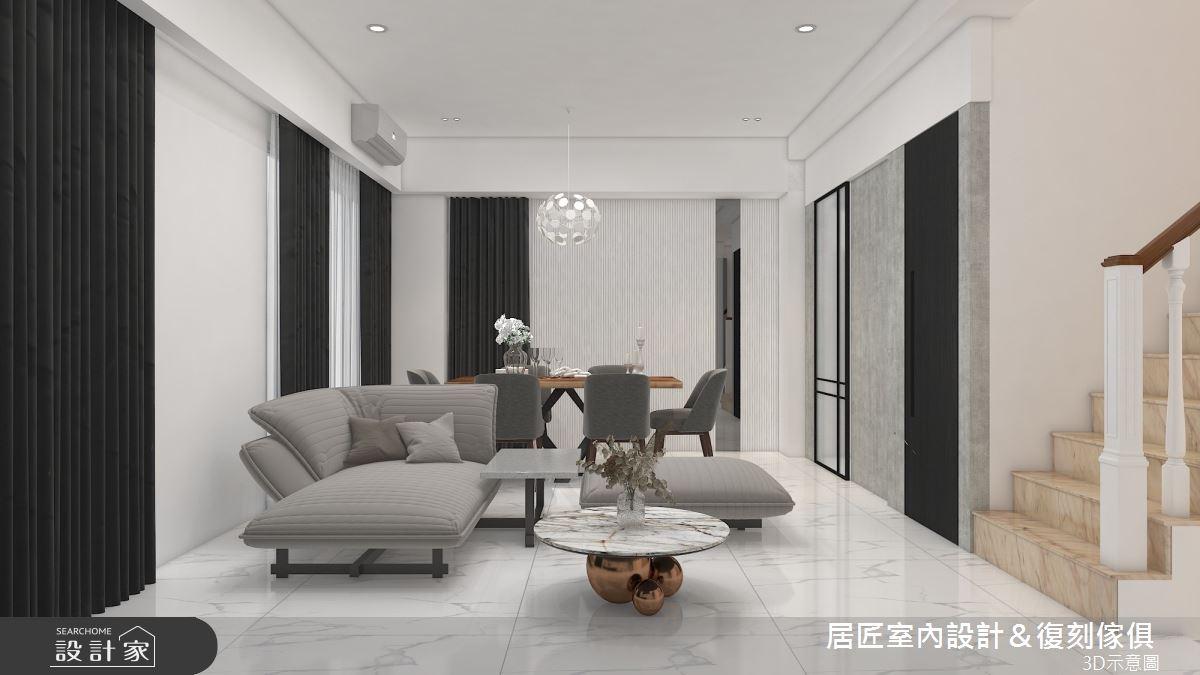 30坪新成屋(5年以下)_現代風客廳案例圖片_居匠室內設計&復刻傢俱_居匠_23之4