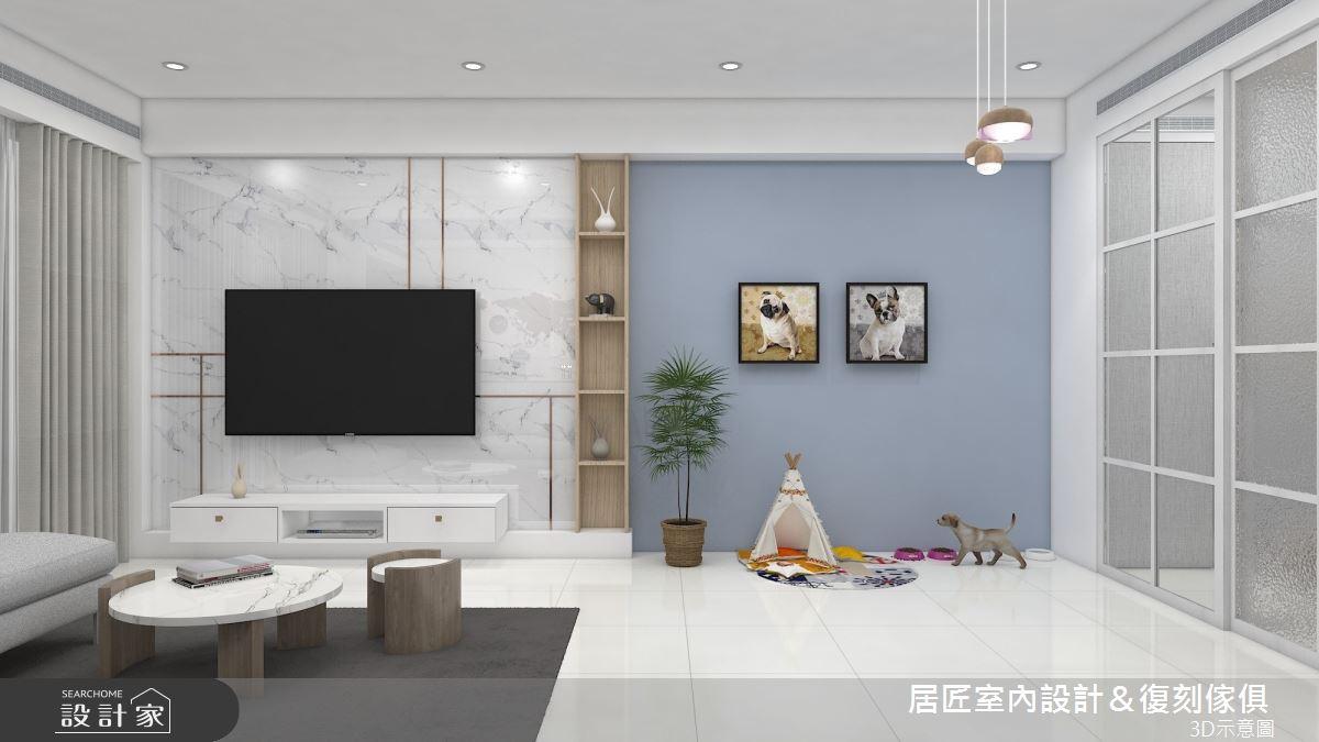 22坪新成屋(5年以下)_北歐風客廳案例圖片_居匠室內設計&復刻傢俱_居匠_24之4