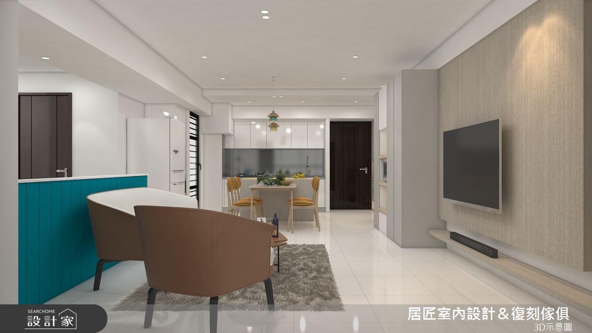30坪新成屋(5年以下)_簡約風客廳案例圖片_居匠室內設計&復刻傢俱_居匠_25之1