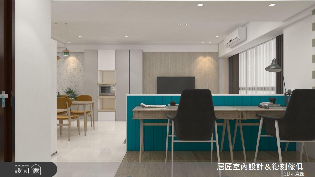 30坪新成屋(5年以下)_簡約風書房案例圖片_居匠室內設計&復刻傢俱_居匠_25之6