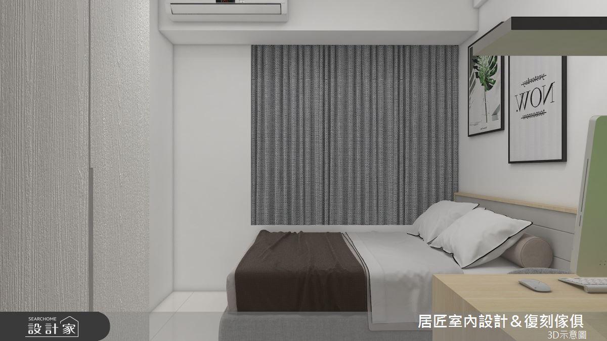 30坪新成屋(5年以下)_簡約風臥室案例圖片_居匠室內設計&復刻傢俱_居匠_25之9