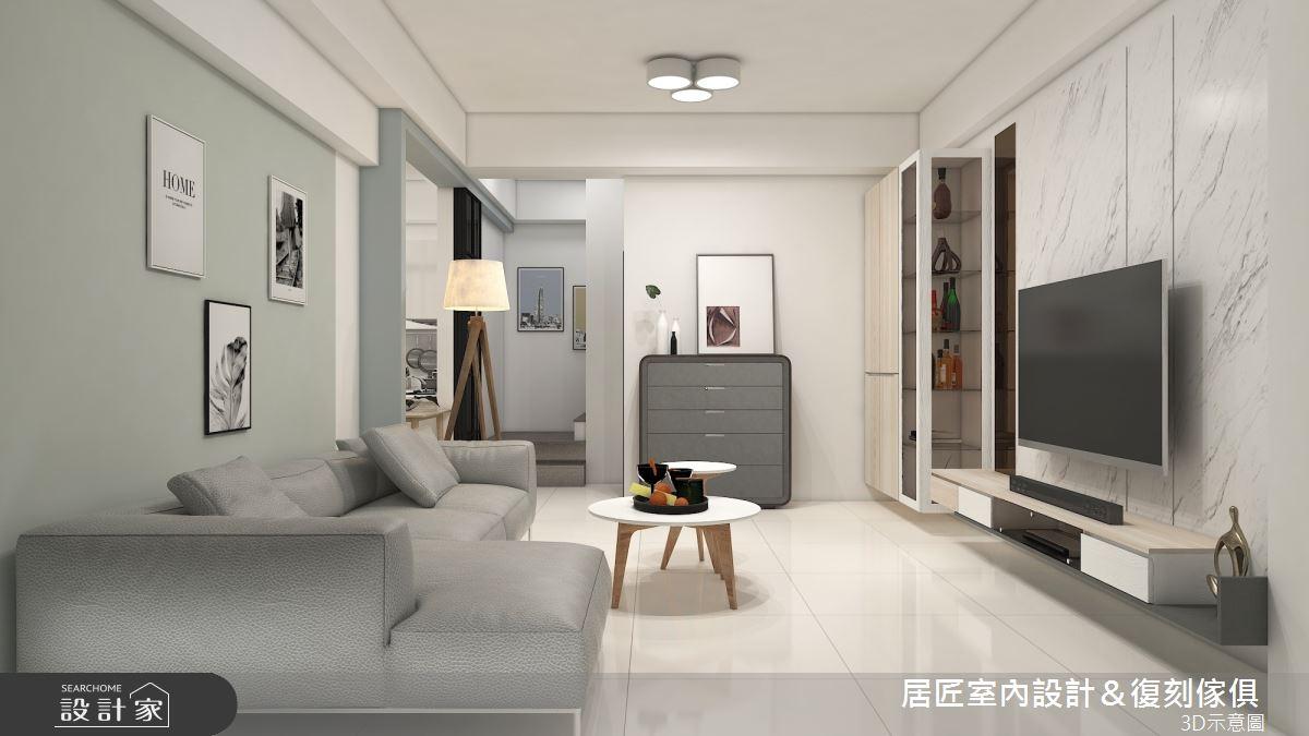 45坪新成屋(5年以下)_簡約風客廳案例圖片_居匠室內設計&復刻傢俱_居匠_26之2