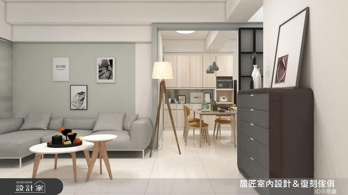 45坪新成屋(5年以下)_簡約風客廳案例圖片_居匠室內設計&復刻傢俱_居匠_26之4