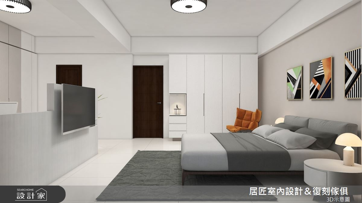 45坪新成屋(5年以下)_簡約風臥室案例圖片_居匠室內設計&復刻傢俱_居匠_26之7