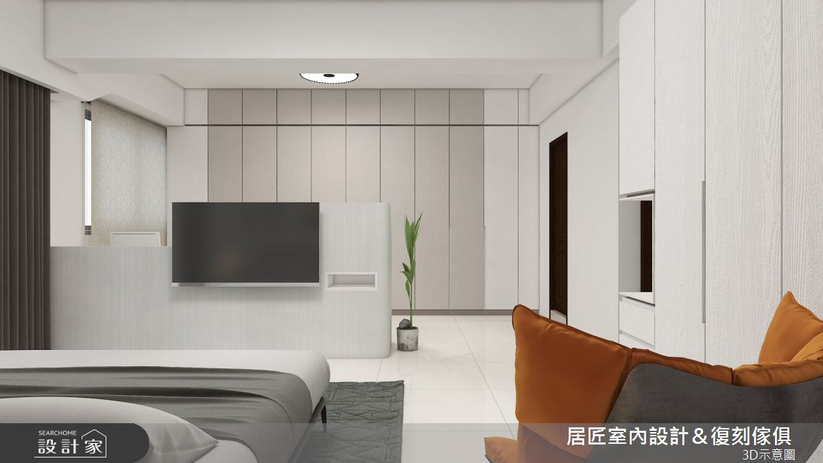 45坪新成屋(5年以下)_簡約風臥室案例圖片_居匠室內設計&復刻傢俱_居匠_26之8