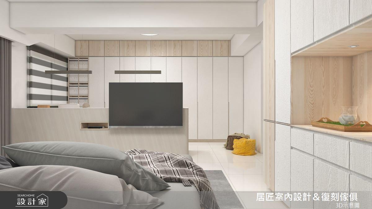 45坪新成屋(5年以下)_簡約風臥室案例圖片_居匠室內設計&復刻傢俱_居匠_26之12