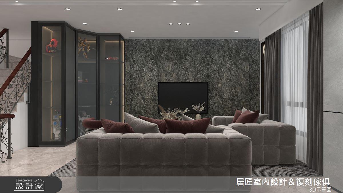 115坪新成屋(5年以下)_現代風客廳案例圖片_居匠室內設計&復刻傢俱_居匠_27之2