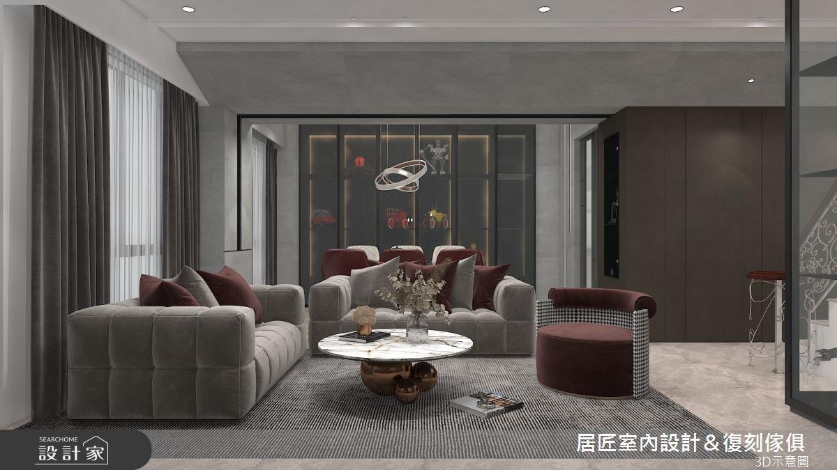 115坪新成屋(5年以下)_現代風客廳案例圖片_居匠室內設計&復刻傢俱_居匠_27之3